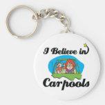 je crois aux carpools porte-clés