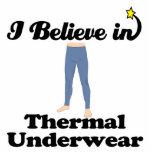 je crois dans les sous-vêtements thermiques photo sculptures
