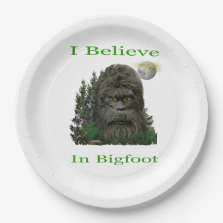 Je crois en Bigfoot Assiettes En Papier