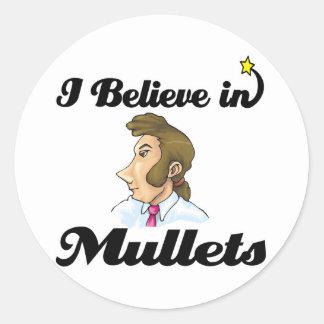 je crois en mulets sticker rond