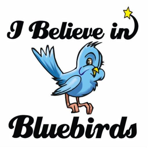 je crois en oiseaux bleus photo sculptures