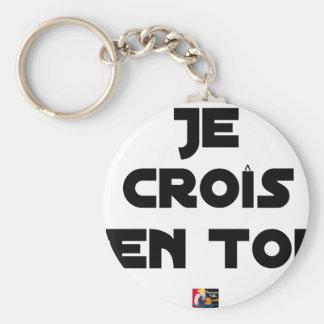 Je croîs en Toi - Jeux de Mots - Francois Ville Porte-clés