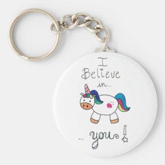 Je crois en VOUS ! Licorne Porte-clés
