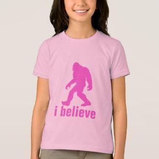 je crois - la silhouette rose (distrssed) t-shirt