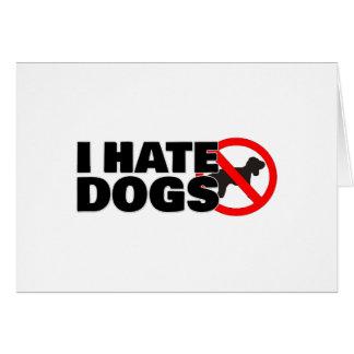 Je déteste des chiens carte de vœux