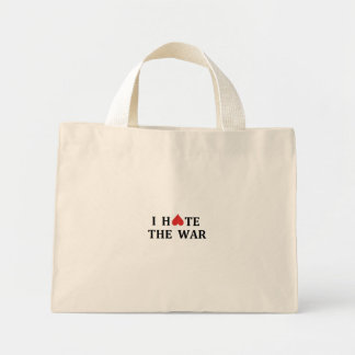 Je déteste la guerre sacs de toile