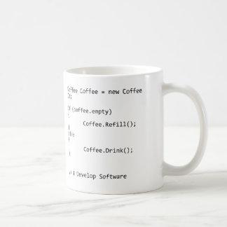 Je développe le logiciel mug