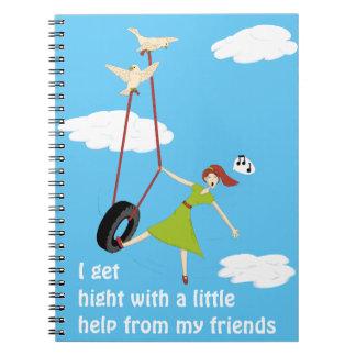 Je deviens haut avec une peu d'aide de mes amis carnet