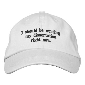Je devrais écrire mon chapeau de dissertation en casquette brodée