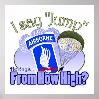 Je dis le saut [173rd aéroporté] posters