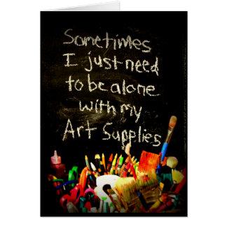 Je dois juste être seul avec mes carte de vœux