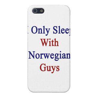 Je dors seulement avec les types norvégiens iPhone 5 case