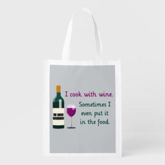 Je fais cuire avec du vin… parfois dans la cabas épicerie