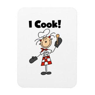 Je fais cuire - le chef féminin magnet