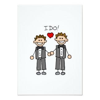 Je fais deux mariés carton d'invitation  12,7 cm x 17,78 cm
