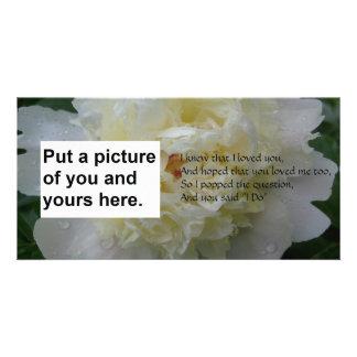 Je fais la carte de mariage de poème modèle pour photocarte