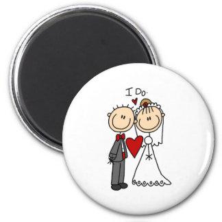 Je fais l'aimant de cérémonie de mariage magnet rond 8 cm