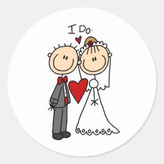 Je fais l'autocollant de cérémonie de mariage sticker rond
