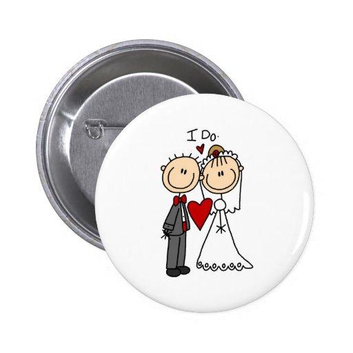 Je fais le bouton de cérémonie de mariage badge avec épingle