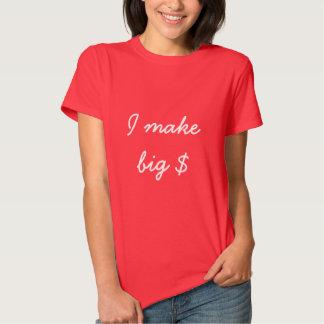Je fais le grand T-shirt d'argent de $