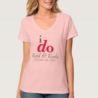 JE FAIS le T-shirt fait sur commande de V-Cou de