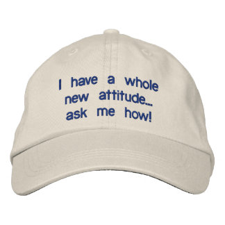 Je fais me demander une nouvelle attitude entière… casquette brodée
