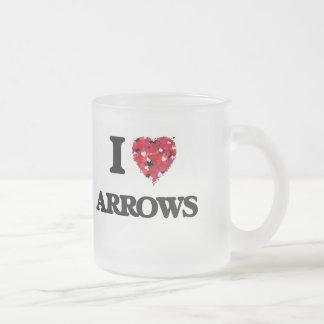 Je flèches d'amour mug en verre givré
