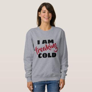 je freaking le sweatshirt de la mode des femmes
