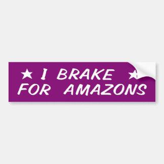 Je freine pour Amazone Autocollant De Voiture