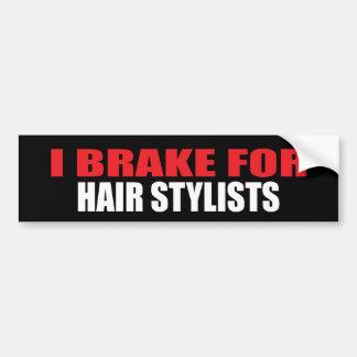 Je freine pour des coiffeurs autocollant pour voiture