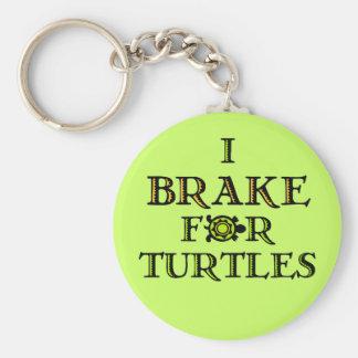 Je freine pour des tortues 1 porte - clé porte-clé rond