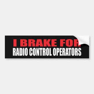 Je freine pour les opérateurs de contrôle par radi autocollants pour voiture