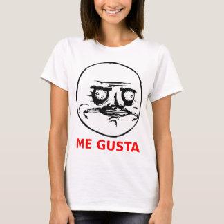 Je Gusta fait face avec le texte T-shirt