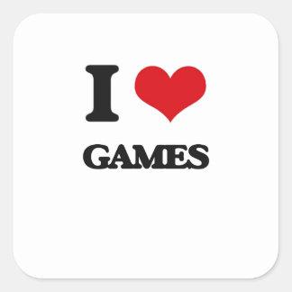 Je jeux d'amour stickers carrés