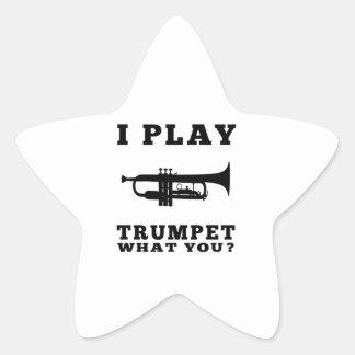 Je joue la trompette sticker étoile
