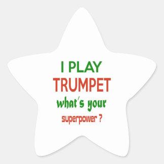 Je joue la trompette ce qui est la votre sticker étoile