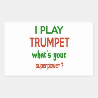 Je joue la trompette ce qui est la votre sticker rectangulaire