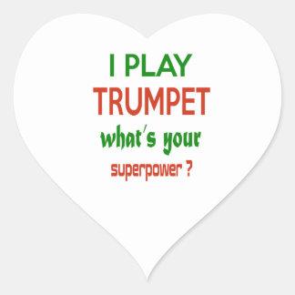 Je joue la trompette ce qui est la votre sticker cœur