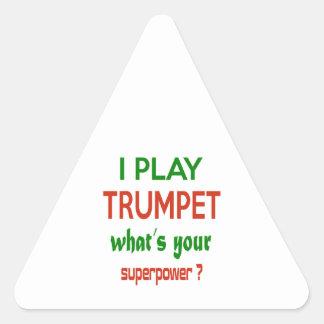 Je joue la trompette ce qui est la votre sticker triangulaire