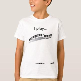 Je joue le T-shirt de piano