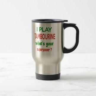 Je joue le tambour de basque ce qui est la votre mug de voyage en acier inoxydable