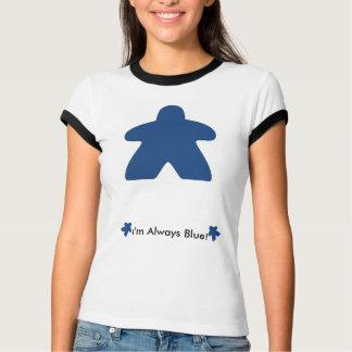 Je joue toujours le T-shirt bleu de Meeple