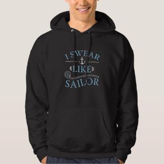 Je jure comme un marin veste à capuche