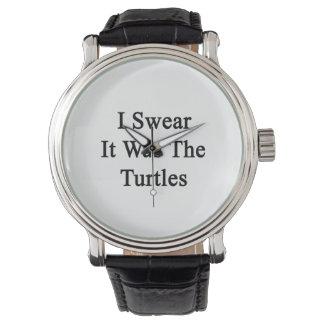Je jure que c'était les tortues montres cadran