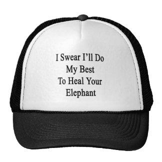 Je jure que je ferai mon meilleur pour guérir casquette de camionneur