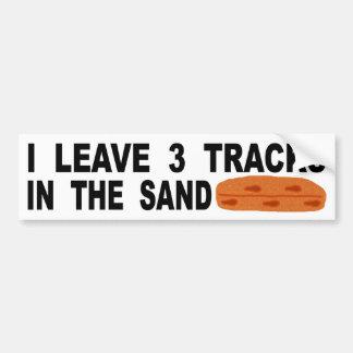 Je laisse 3 voies dans le sable autocollant de voiture