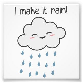Je le fais pleuvoir le nuage de tempête mignon impressions photo