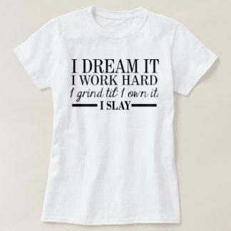 Je le rêve pièce en t courte de douille t-shirt
