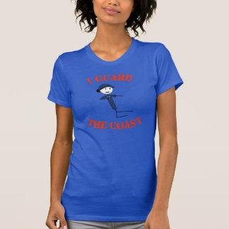"""""""Je le T-shirt des femmes garde côte"""" (le texte"""