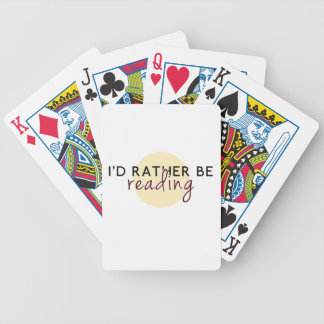 Je lirais plutôt - pour des amoureux des livres jeu de 52 cartes